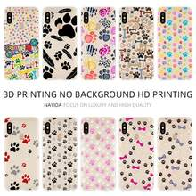 Fashion Lembut TPU Case Cover For Coque Xiaomi Redmi 4X 4A 6A 7a Y3 K20 5 Plus Note 8 7 6 5 Pro Anjing Jejak Kaki Husky(China)