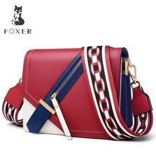 цены FOXER Brand 2019 New Design Female Elegant Korean version Shoulder Bag & Messenger Bags Women Crossbody Bag Colorful  Hasp Flap