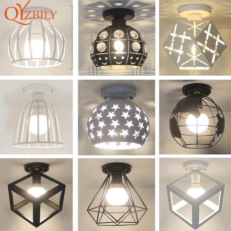ceiling lights Iron modern ceiling lamps for living room  industrial decor E27 led light fixture restaurant lamp modern lantern|Ceiling Lights| |  - title=