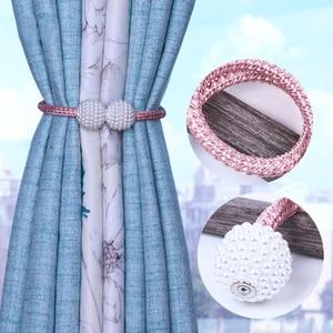 Image 4 - פרל מגנטי וילון Tieback חלון רצועת אבזם מחזיק קליפים תליית כדור וילון רצועות עיצוב הבית אבזרים