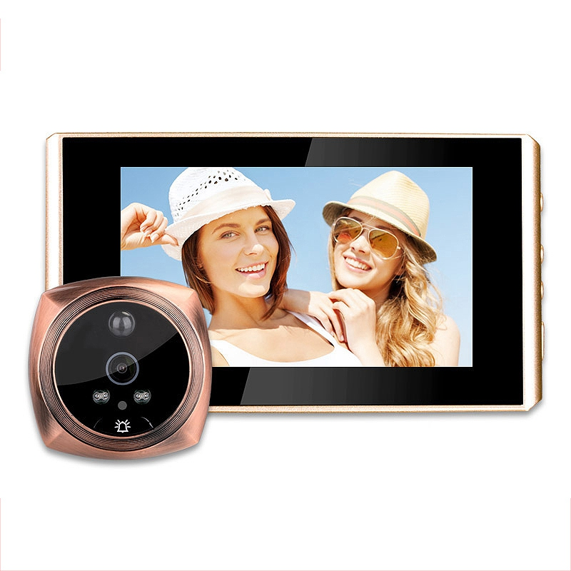 Digital Peephole Video Camera Door Bell Video Eye Support Sd Card Taking Photo Door Peephole Viewer Monitor For Home| |   - title=