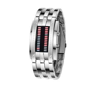 Watch Electronic-Watch Women Fashion Couple Binary Led Double-Row-Light Trend And