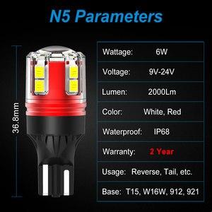 NAO W16W светодиодные лампы T15 T16 12V 24V Мини Размер 921 6W 2000Lm Автомобильная резервная лампочка Белый Красный 912 авто задний фонарь аксессуары|Сигнальная лампа|   | АлиЭкспресс