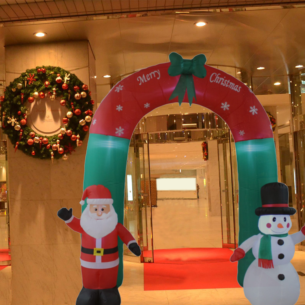 Christmas Santa Snowman Inflatable Archway Home Garden Party Arch Decoration