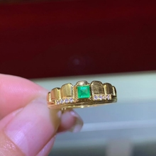 CoLife Jewelry 925 Silver Emerald Ring 3mm Natural Emerald S