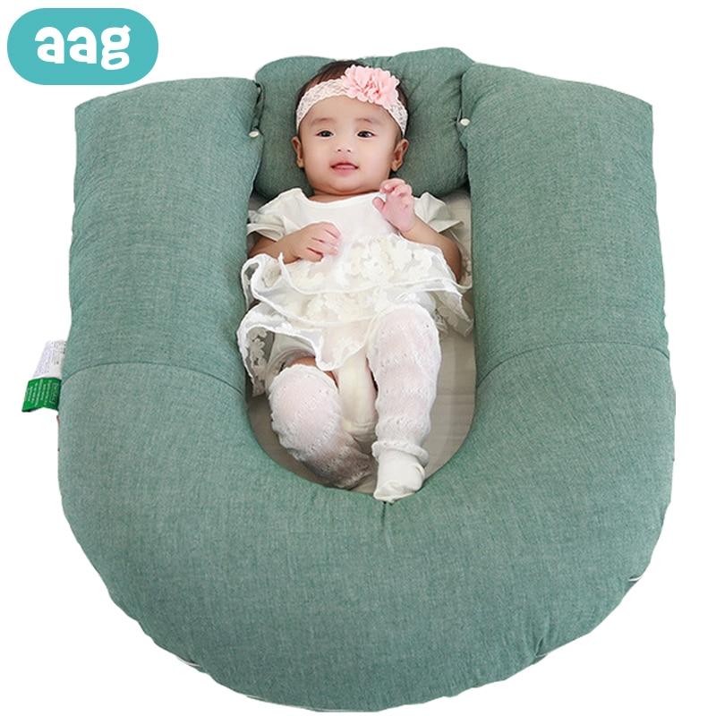 AAG Baby Bed Crib Nest Newborn Cot Cradle Child Travel Bed Baby Sleeping Support Pad Mattress Newborn Nursing Pillow Babynest