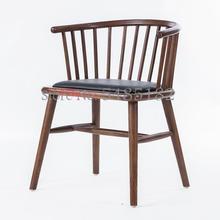 Прямая поставка с фабрики, скандинавский простой стул принцессы из цельного дерева, кафе, молочный чай, магазин, горячий горшок, чайный ресторан, обеденный стол, стул