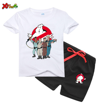 2pcs New Baby Boys Short Sleeve Sets Toddler Girls Cartoon Tops+ Shorts Summer Play Suit Children Clothing Set Funny Ghostbuster sodawn 2017 brother sister clothes summer new children clothse boysgirls lattice short sleeve shorts suit boy girls clothing set