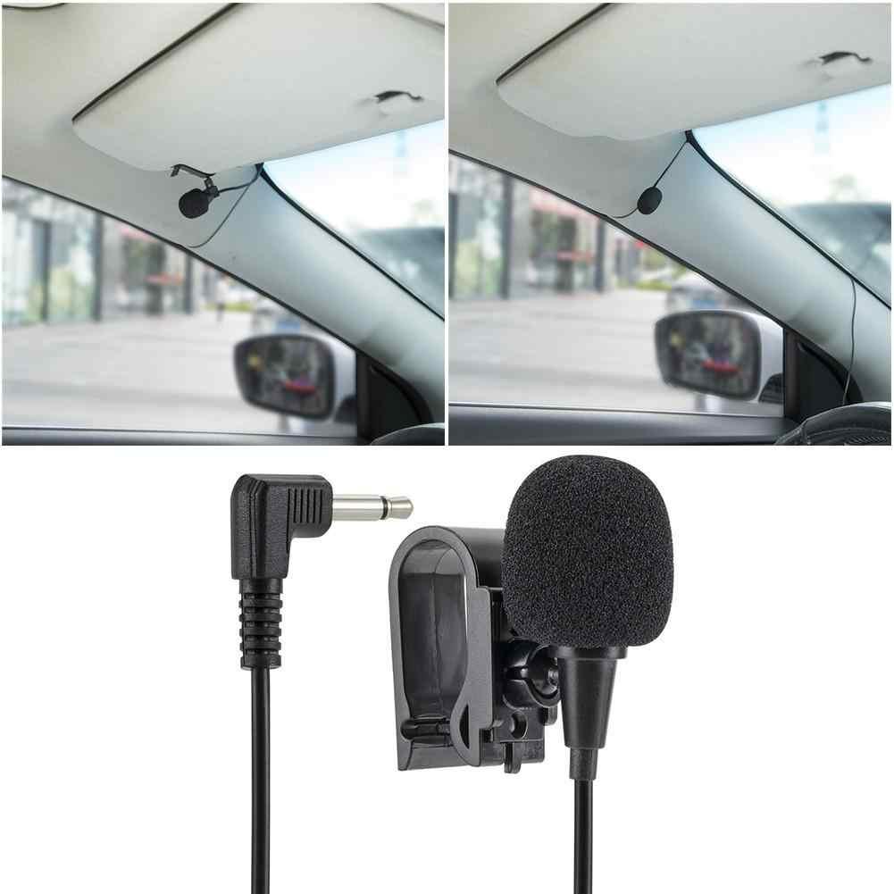 Auto Externe Mikrofon Mit 3,5mm 3M Bluetooth Audio Kabel U-Förmigen Clip Für Radio Automatische DVD Player auto Zubehör