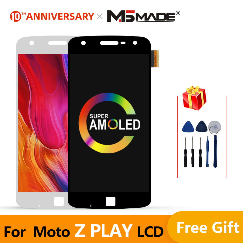 Super <font><b>AMOLED</b></font> For Motorola Moto Z Play <font><b>XT1635</b></font> <font><b>XT1635</b></font>-02 LCD Touch Screen Digitizer Display Replacement For MOTO Z Play Display image