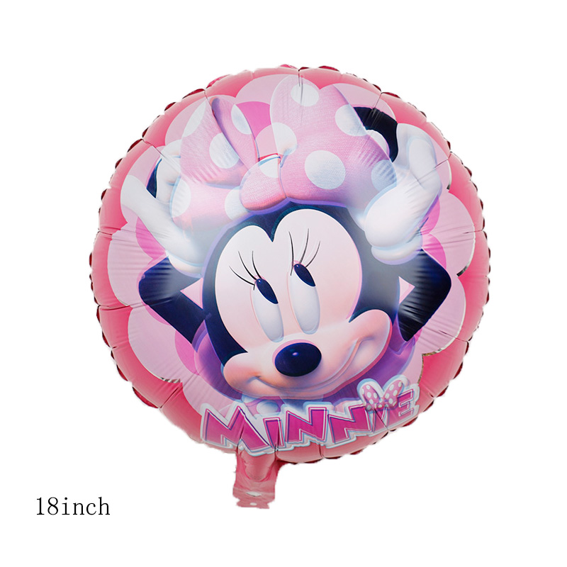 112cm Giant Mickey Minnie Mouse Cartoon Foil Balloon For Birthday Party 11
