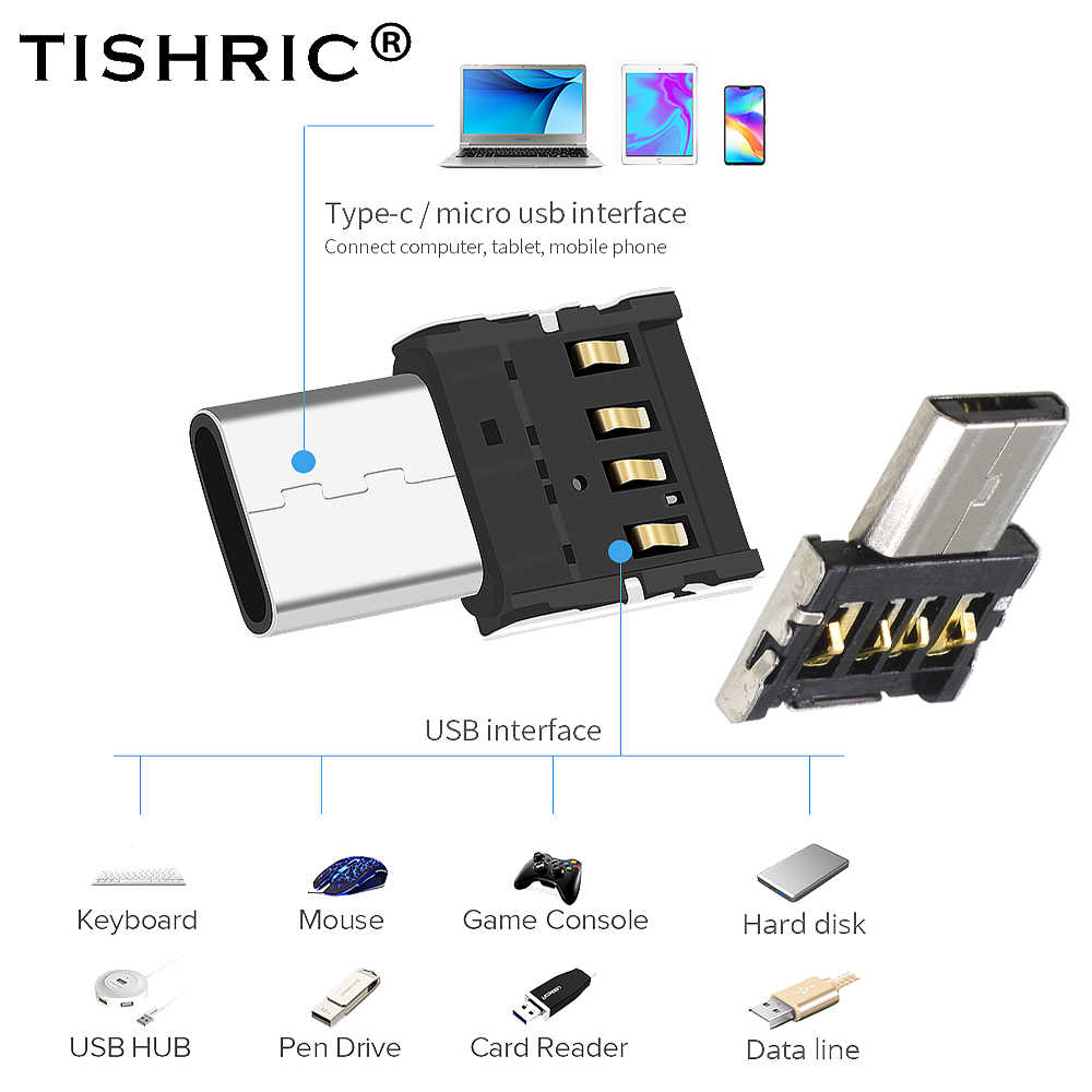 TISHRIC OTG USB Interface Zu Typ-c Micro USB Multi-funktion Konverter Adapter Für Xiaomi/Samsung/ USB-Stick/Daten Kabel