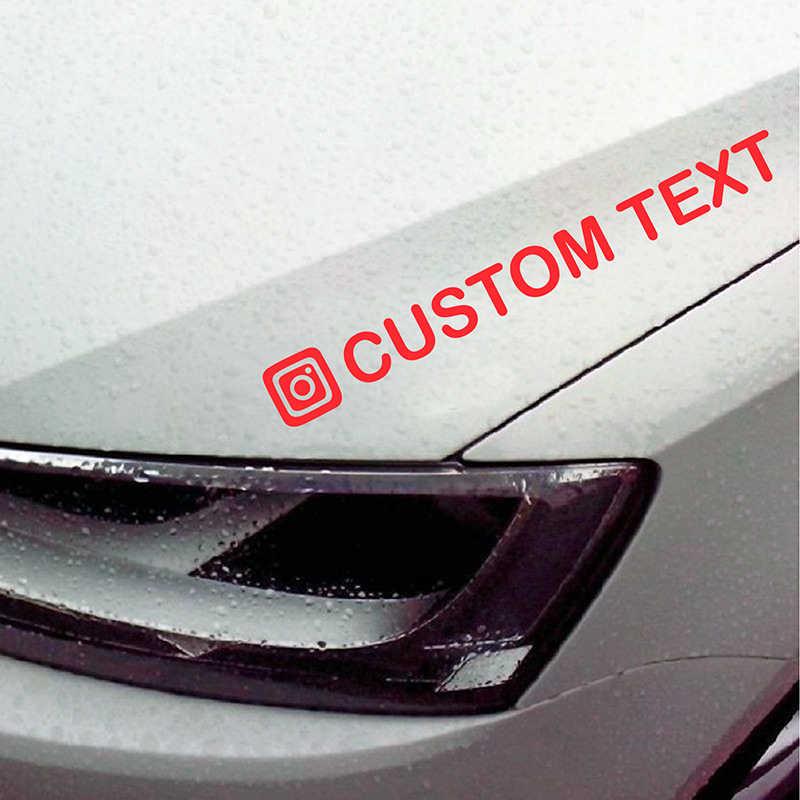 14x5cm personnalisé personnalisé Instagram nom d'utilisateur étanche voiture et moto décalcomanies autocollant