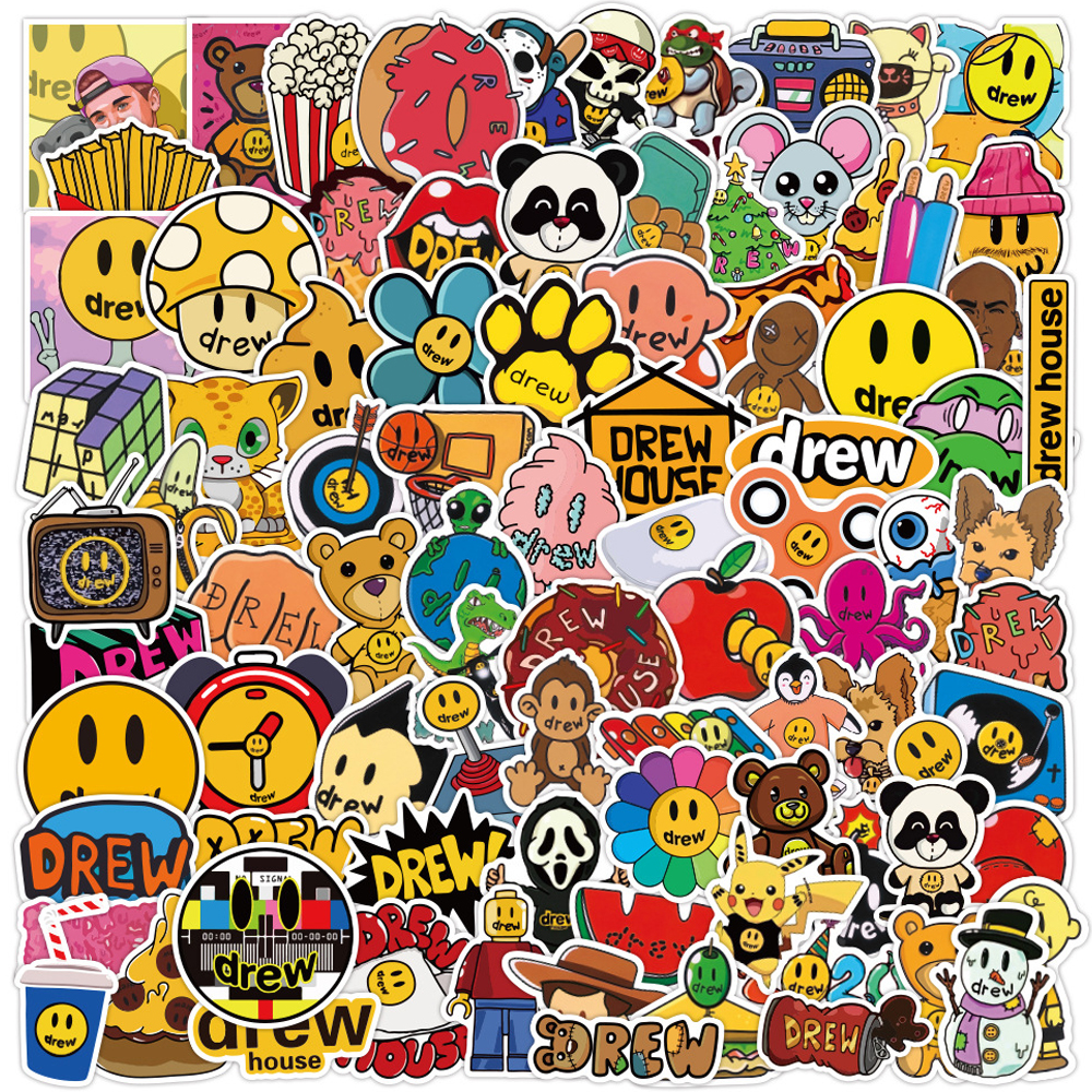 50 Pcs Justin Bieber Drewhouse Stickers Pack Suitcase Laptop Motorcycle Cartoon