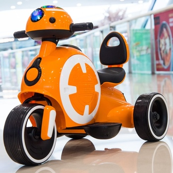 Children's electric motorcycle Rechargeable tricycle Kids toy car Boy baby remote control battery car