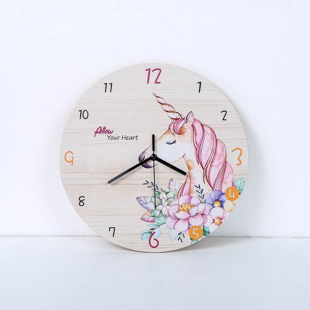Fashion Horse Flower Wall Clock Living Room Bedroom Hanging Table Silent Quartz Mute Children Room Cartoon Wall Clock Home Decor
