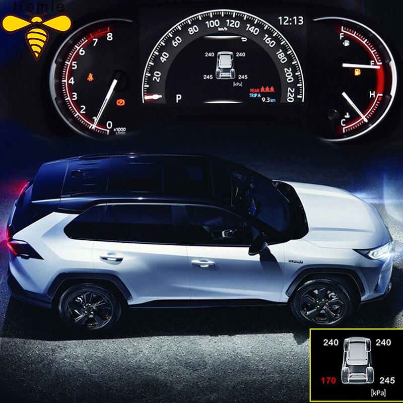 Smart Car TPMS Tyre Pressure Monitoring System Digital LCD Dash Board Display Auto Security Alarm for Toyota Rav4 2019 2020 Xa50