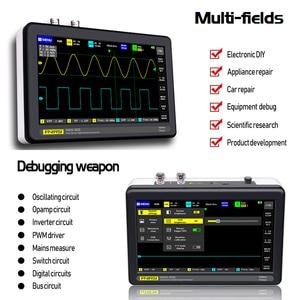 Image 5 - ADS1013D 2 Kanalen 100Mhz Band Breedte 1gsa/S Sampling Rate Oscilloscoop Met 7 Inch Kleuren Tft Lcd Aanraken screen