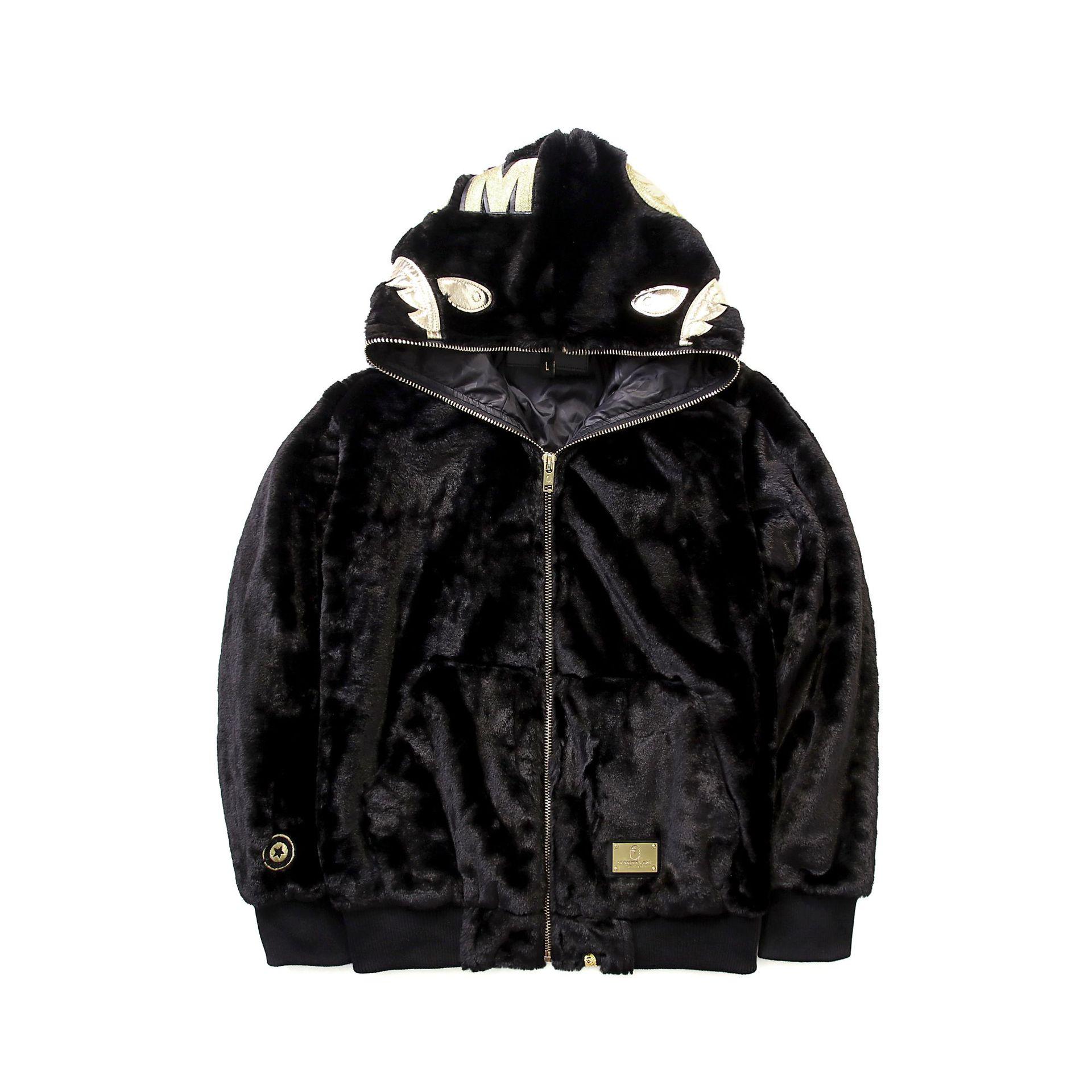 2019 черная Золотая толстовка с вышитой акулой, шерстяная толстовка с капюшоном Harajuku, топ, длинное пальто, Толстовка для косплея в стиле хип хоп
