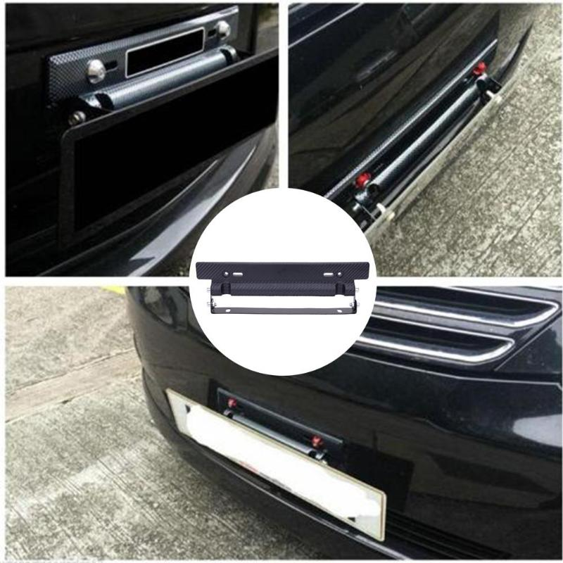 Bracket-Holder Bumper-Brackets License-Plate-Frame Car-Number Carbon-Fiber Universal title=
