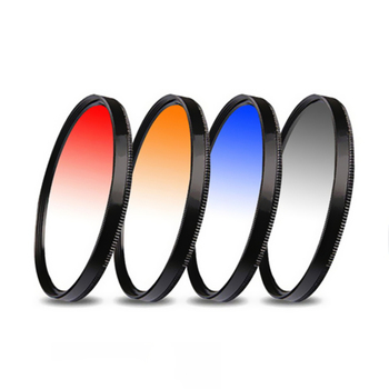 Suitable for SLR Camera Universal Thread Gradient Gray Blue Orange Red Filter Color Rendering Synergist to send storage bag image