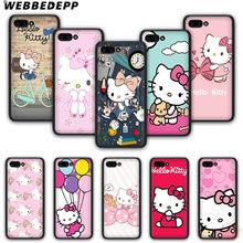 WEBBEDEPP Hello Kitty Fashion funda de teléfono de silicona suave para Honor 6A 7X 8X 8C 9 10 Note10 para Honor 8 9 10 Lite(China)