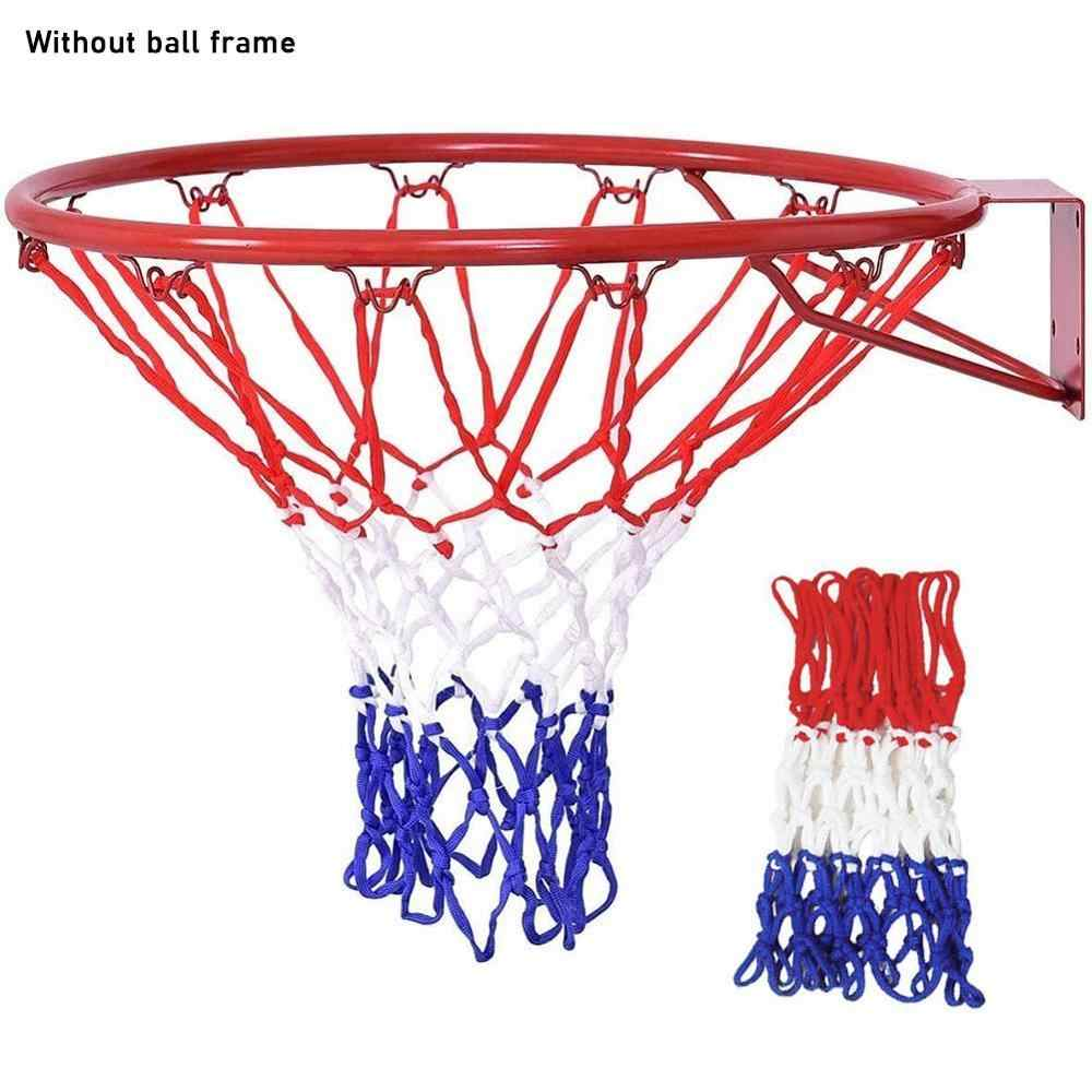 Durable Standard Nylon Thread Sports Hoop Goal Red Basketball Rim Mesh Nets C
