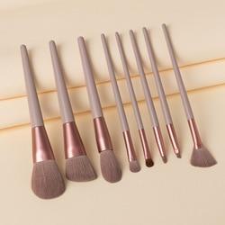 8/13Pcs Professional Large Makeup Brush Powder Blush Foundation Highlighter Blend Eyeshadow Fan Brush Cosmetic Kwasten Set