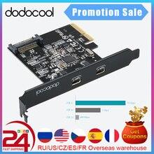 Dodocool سوبر سبيد USB 3.1 PCI بطاقة Express مع المزدوج عكسها نوع C منافذ 5 فولت 15 دبوس موصل الجنرال 2 10 Gbps إضافة على بطاقة