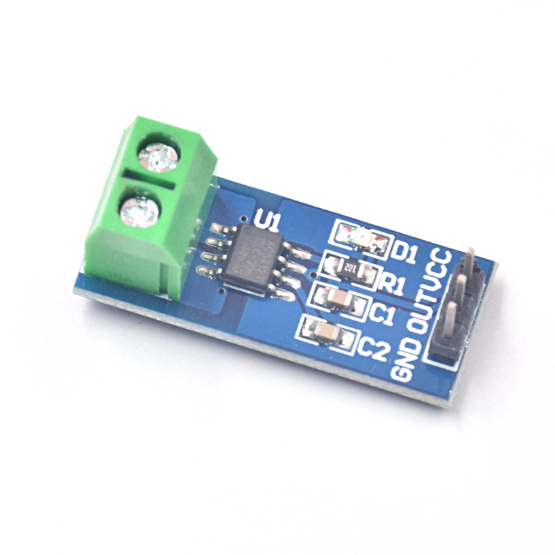 Free Shipping 10pcs/lot 5A New Range Current Sensor Module Board For ACS712