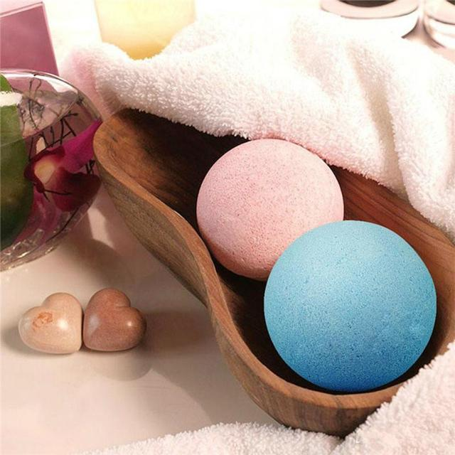 1pc Bath Salt Ball Body Skin Exfoliate Whitening Ease Relaxion Stress Relief Natural Bubble Shower Bomb Ball 5color Cleaner Spa 5