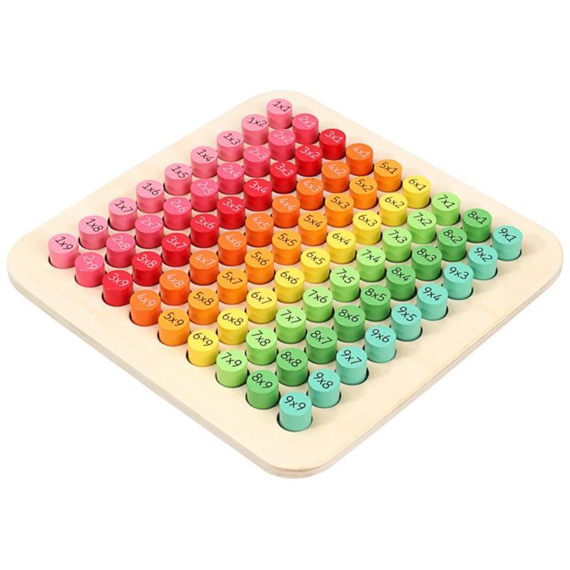 Математические блоки, 9x9, Детские деревянные игрушки, Монтессори, подарки, развивающая головоломка, ранний интеллект, детская игрушка в пода...