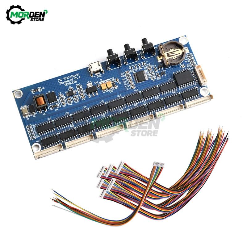 6-Bit Glow Clock Motherboard Core Board Control Panel Remote Control  For Universal 18 qs30-1 Nixie Digital LED Clock Dropship