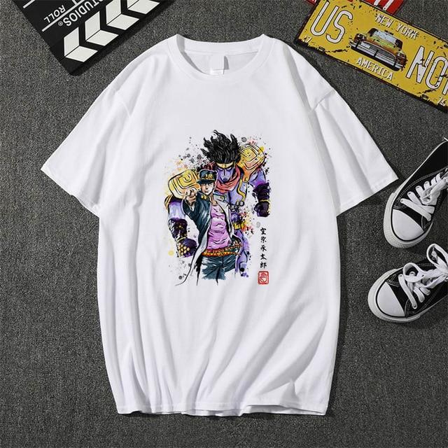 Jojo Bizarre Adventure T Shirt Men T-shirt Anime Cool Graphic Print Japan 2021 Summer Short Sleeve Soft Plus Size Tee Top Edgy 1