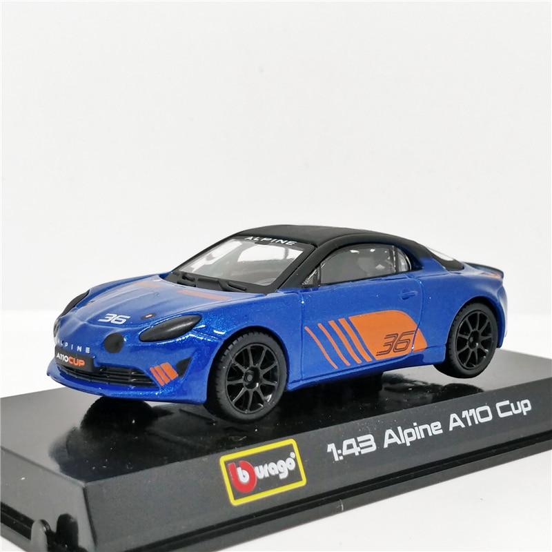 Bburago 1:43 Alpine A110 Cup 2019 Racing Diecast Model Car