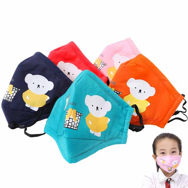 1Pcs Anti Dust Face Mouth Mask Reusable Breathable Cotton Protective Children Kid Cartoon Cute PM2.5 Anti-Dust Mouth Face Mask 1
