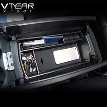 Vtear podłokietnik samochdoowy pudełko do przechowywania dla Peugeot 3008 3008GT 5008 2018 2019 2020 2021 centralne pudełko do przechowywania na deskę rozdzielczą akcesoria do wnętrz