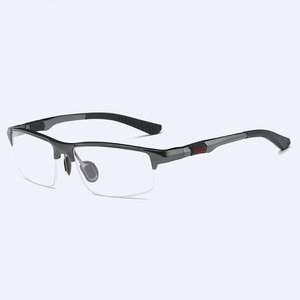 Image 5 - 3121 Optical Eyeglasses Frame for Men Eyewear Prescription Glasses Half Rim Man Spectacles Alloy Frame Eyeglasses