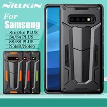 غطاء Nilkin لهاتف سامسونج جالاكسي S10 S9 S8 Plus غلاف واقي NILLKIN غطاء حماية قوي خلفي متين لهاتف سامسونج نوت 9 8
