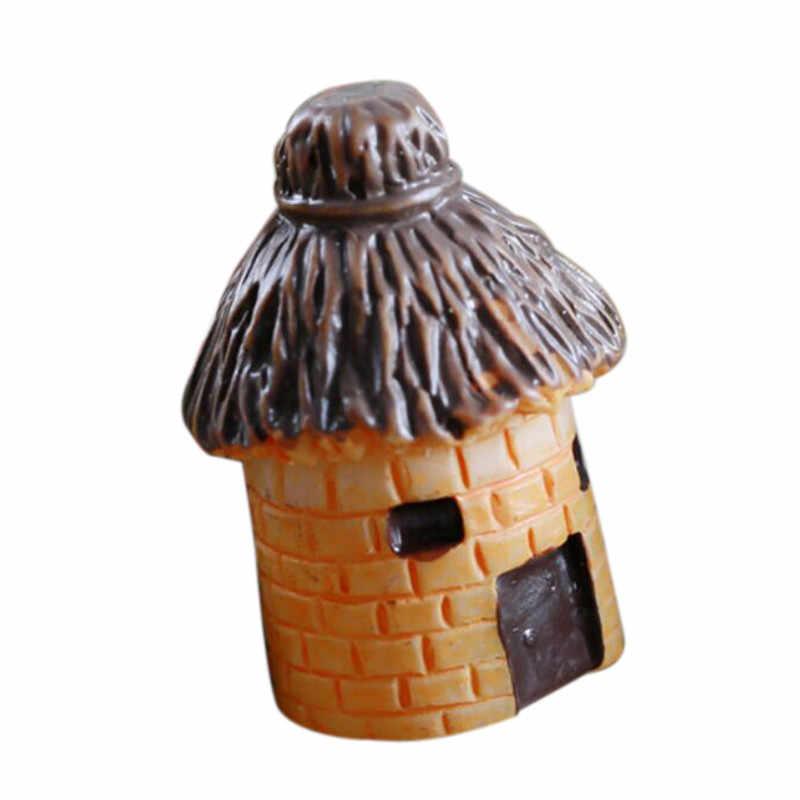 Mini Dekorasi Bulat Kartun Ekspresi Rumah Resin Dekorasi untuk Rumah dan Taman DIY Mini Cottage Pemandangan Dekorasi 32
