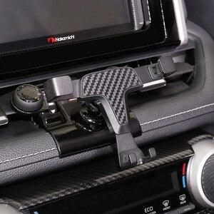 Image 5 - Автомобильный держатель для телефона Toyota RAV4, автомобильный держатель для телефона XA50, специальный размер, Углеволокно, автомобильный парфюм, 2019, 2020