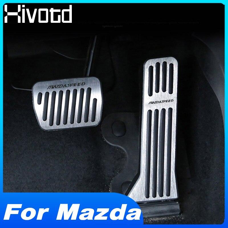 Hivotd – couvercle de plaque de pédale d'accélérateur, pour Mazda 3 Axela CX 5 CX5 CX8 CX9 CX 9 2017 2018