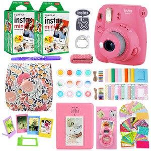 Image 2 - كاميرا Fujifilm Instax Mini 9 للطباعة الفورية على الصور مع 40 ورقة فيلم مصغر كاميرا الكتف حزام حقيبة الملحقات حزمة
