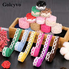 1Meter Colorful Cotton Crochet Lace Trims Edge Colthing Skirt DIY Crafts Charms