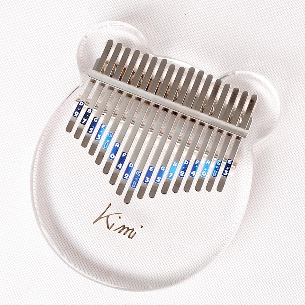 17 key crystal Kalimba Afrikaanse duim transparant vinger piano acryl Kalimba draagbare muziekinstrument