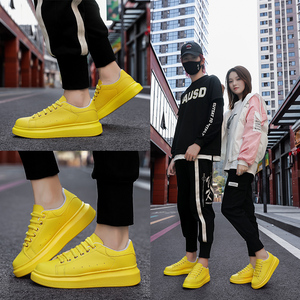 Image 5 - Shoes Man's Scarpe Donna Spring Autumn Genuine Leather Flat Couple Casual Shoes Tenis Feminino White Sneakers Women Basket Femme