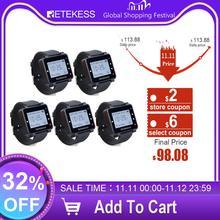 5 قطعة Retekess T128 النادل ساعة دعوة استقبال 433.92 ميجا هرتز ل نظام اتصال لاسلكي مطعم المعدات خدمة العملاء