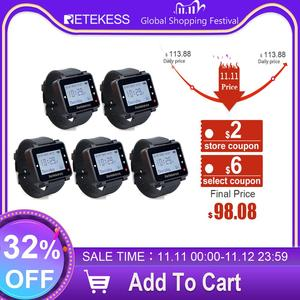 Image 1 - 5pcs Retekess T128 Waiter Call Watch Receiver 433.92MHz For Wireless Calling System Restaurant Equipment Customer Service