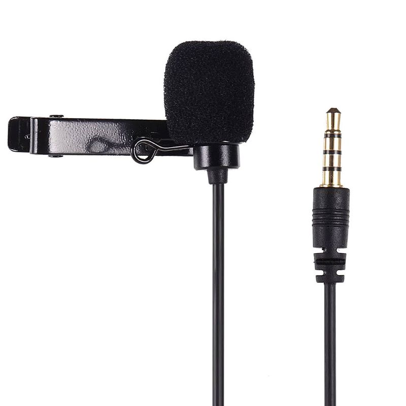 1Set 1Set VD-S2 Single/Dual-head Lavalier Lapel Omnidirectional Clip-on Microphone For Interview Lecture For Smartphone Mobile