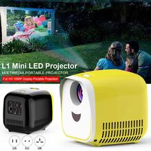 цена на L1 Mini Projector 80 Large Screen 1080P Full HD LED Movie Home Theater Video Projector With HDMI Cable USB TF TV Laptop Games